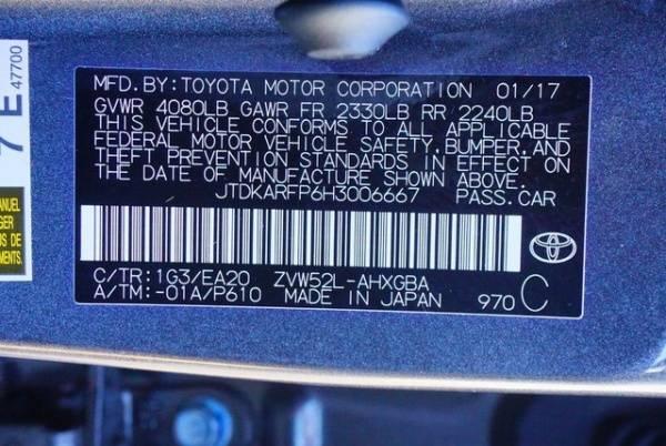 2017 Toyota Prius Prime JTDKARFP6H3006667