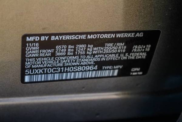 2017 BMW X5 xDrive40e 5UXKT0C31H0S80964