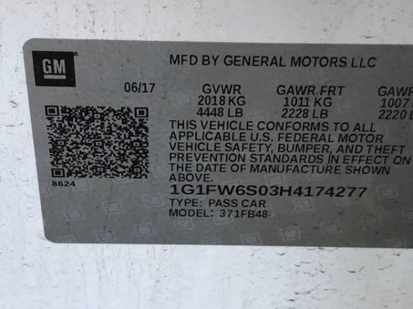 2017 Chevrolet Bolt 1G1FW6S03H4174277