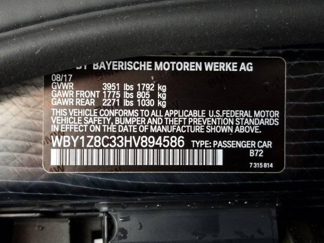 2017 BMW i3 WBY1Z8C33HV894586