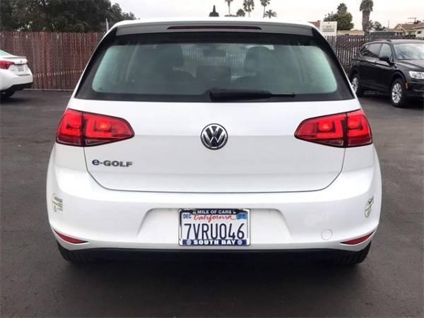 2016 Volkswagen e-Golf WVWKP7AU0GW914349