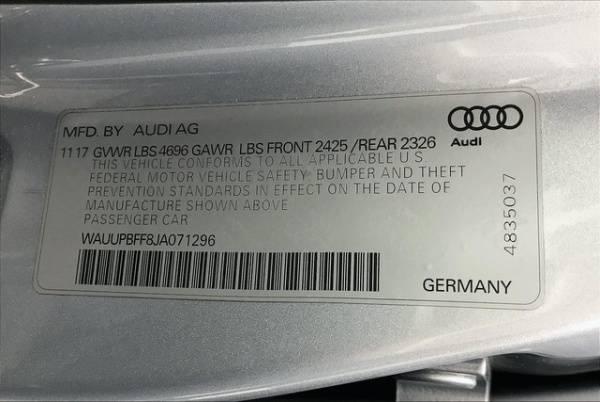 2018 Audi A3 Sportback e-tron WAUUPBFF8JA071296