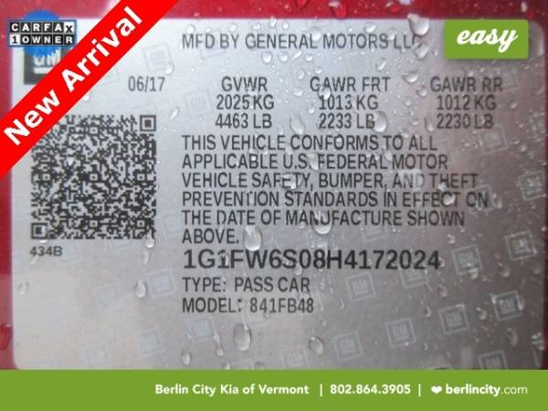 2017 Chevrolet Bolt 1G1FW6S08H4172024