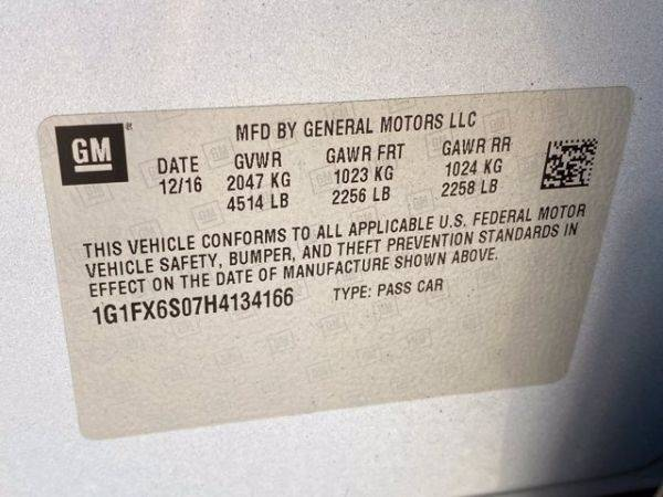 2017 Chevrolet Bolt 1G1FX6S07H4134166