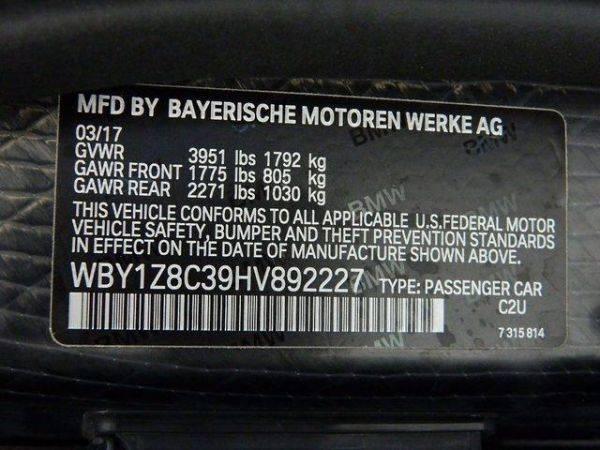 2017 BMW i3 WBY1Z8C39HV892227