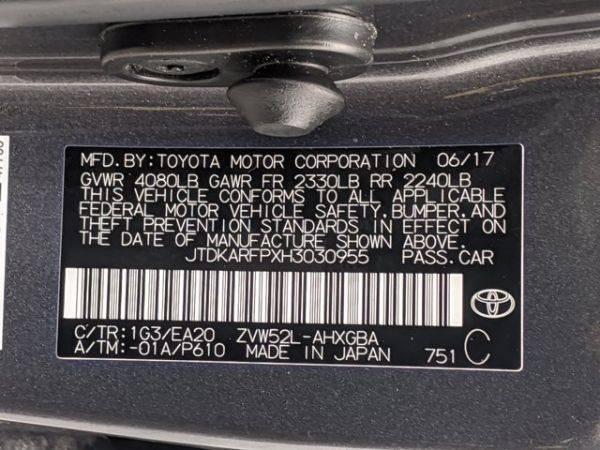 2017 Toyota Prius Prime JTDKARFPXH3030955