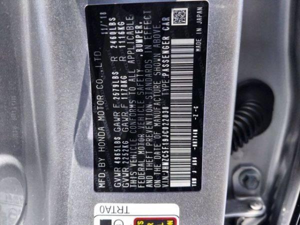 2018 Honda Clarity JHMZC5F19JC022038