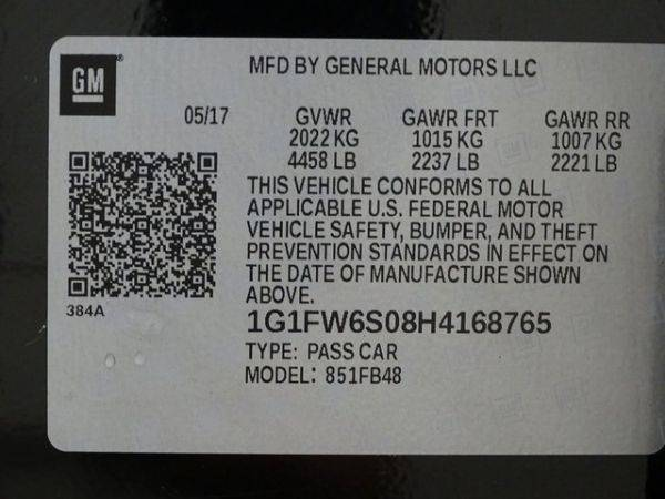 2017 Chevrolet Bolt 1G1FW6S08H4168765
