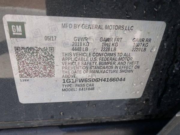 2017 Chevrolet Bolt 1G1FW6S06H4166044