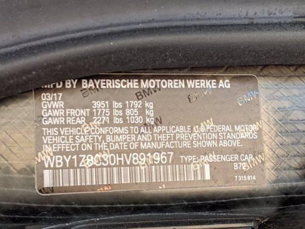 2017 BMW i3 WBY1Z8C30HV891967