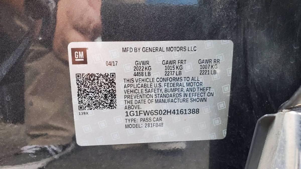 2017 Chevrolet Bolt 1G1FW6S02H4161388