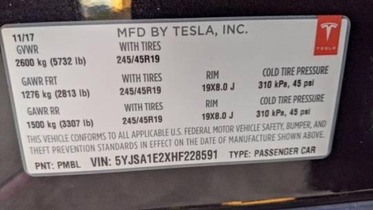 2017 Tesla Model S 5YJSA1E2XHF228591