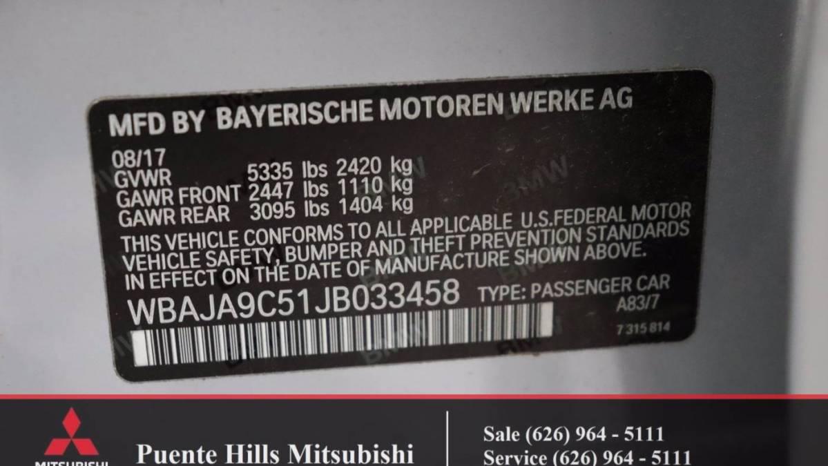 2018 BMW 5 Series WBAJA9C51JB033458
