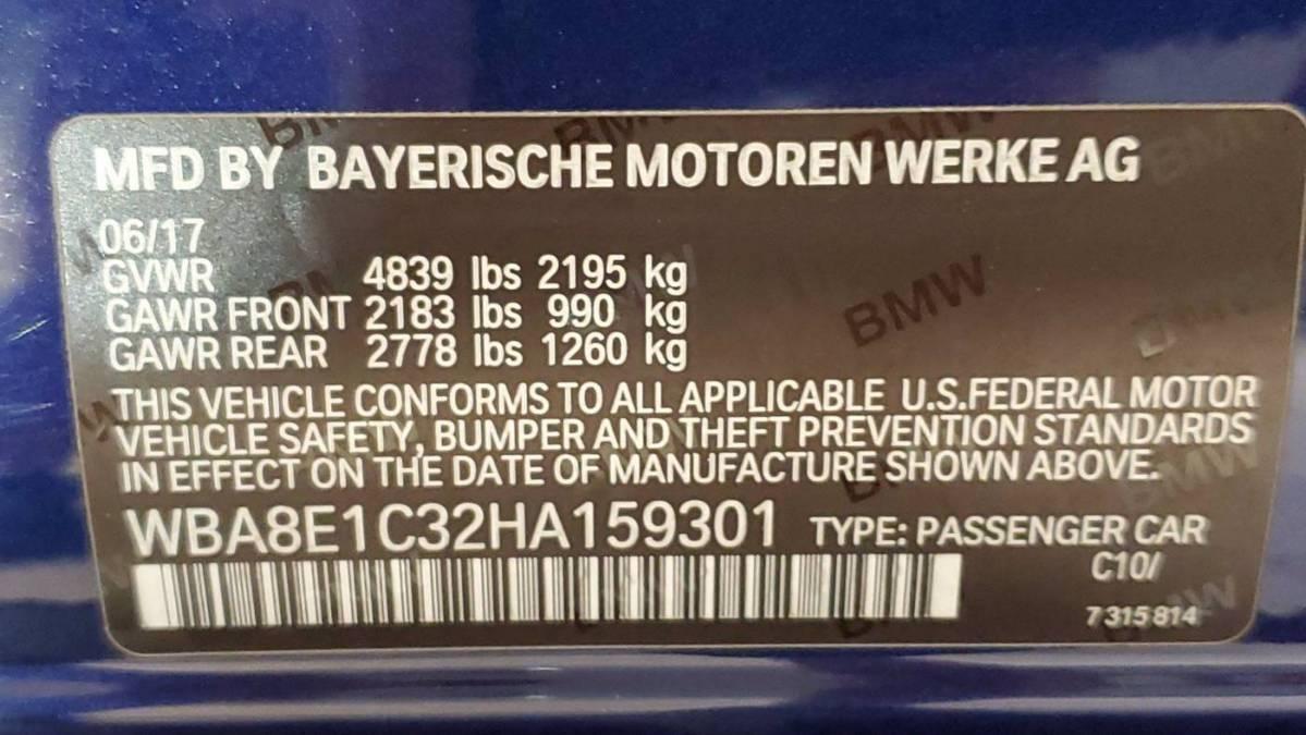 2017 BMW 3 Series WBA8E1C32HA159301