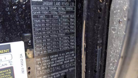 2020 Jaguar I-Pace SADHB2S14L1F83452