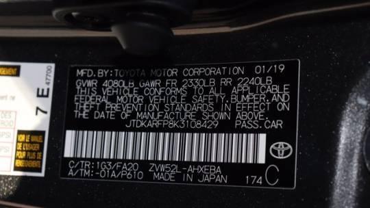 2019 Toyota Prius Prime JTDKARFP8K3108429