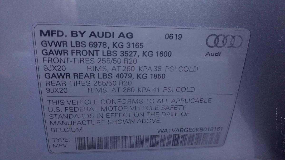 2019 Audi e-tron WA1VABGE0KB018161