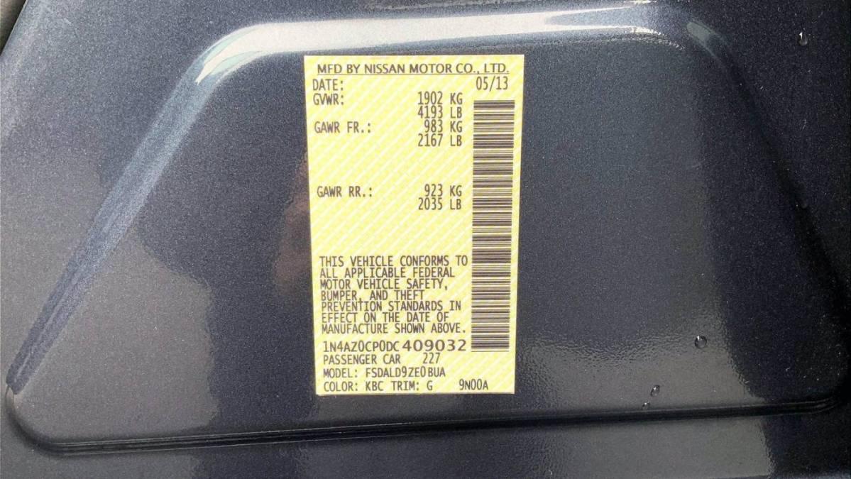 2013 Nissan LEAF 1N4AZ0CP0DC409032