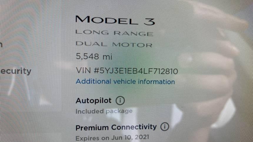 2020 Tesla Model 3 5YJ3E1EB4LF712810