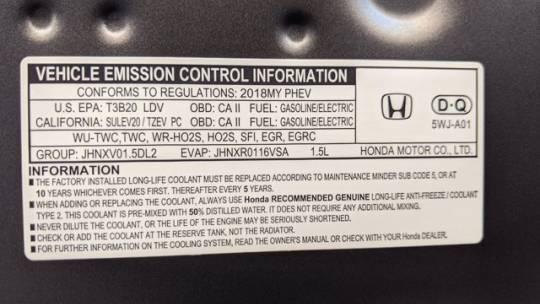 2018 Honda Clarity JHMZC5F1XJC008603