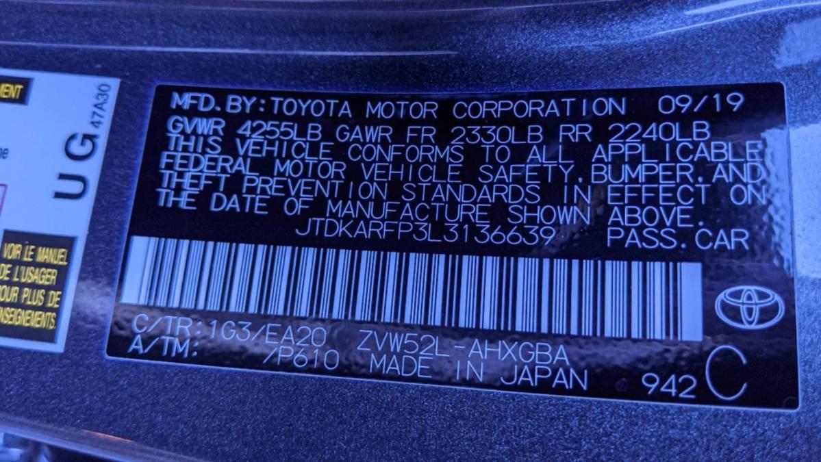 2020 Toyota Prius Prime JTDKARFP3L3136639
