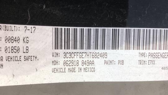 2017 Fiat 500e 3C3CFFGE7HT682409