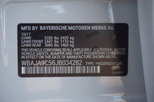 2018 BMW 5 Series WBAJA9C56JB034282