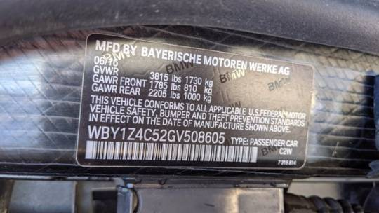 2016 BMW i3 WBY1Z4C52GV508605