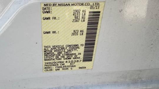 2013 Nissan LEAF 1N4AZ0CP9DC410387