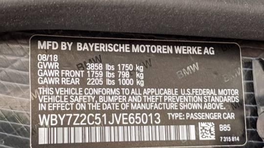 2018 BMW i3 WBY7Z2C51JVE65013