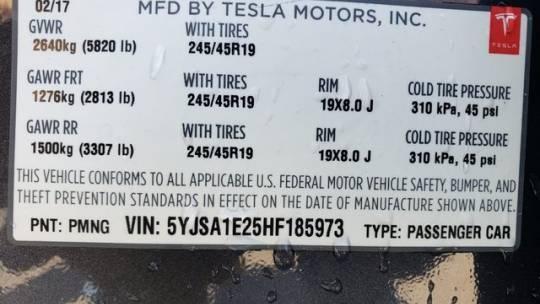 2017 Tesla Model S 5YJSA1E25HF185973