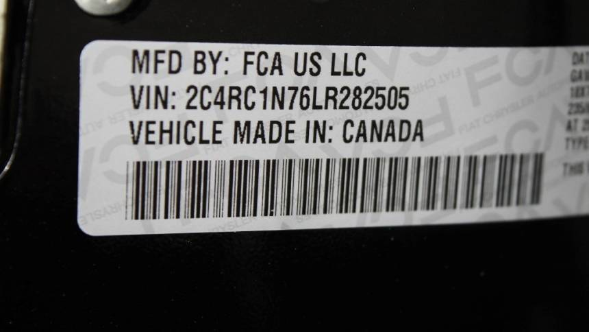 2020 Chrysler Pacifica Hybrid 2C4RC1N76LR282505