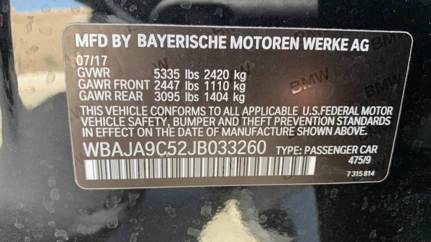 2018 BMW 5 Series WBAJA9C52JB033260