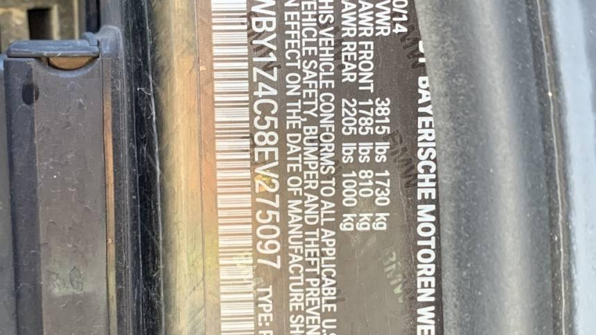 2014 BMW i3 WBY1Z4C58EV275097