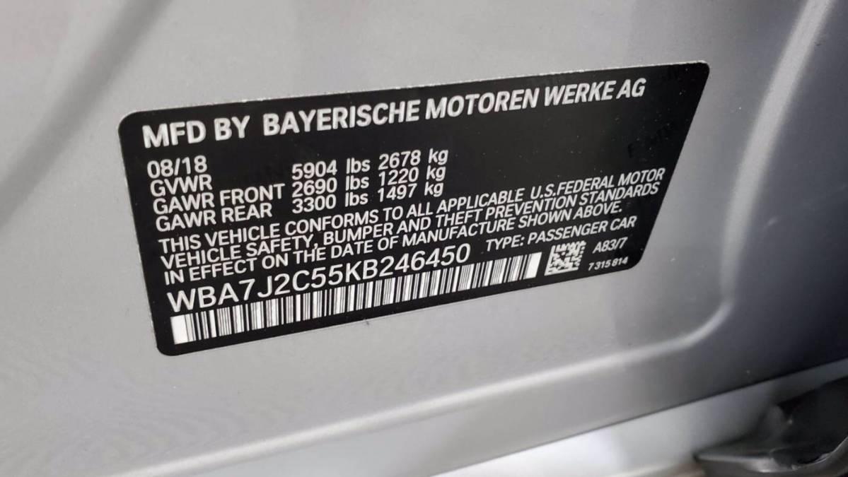2019 BMW 7 Series WBA7J2C55KB246450