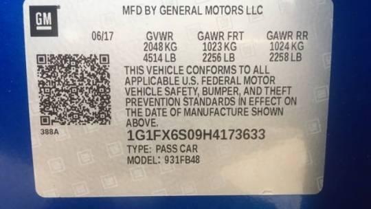 2017 Chevrolet Bolt 1G1FX6S09H4173633