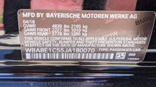 2018 BMW 3 Series WBA8E1C55JA180070