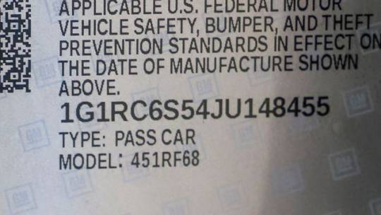 2018 Chevrolet VOLT 1G1RC6S54JU148455