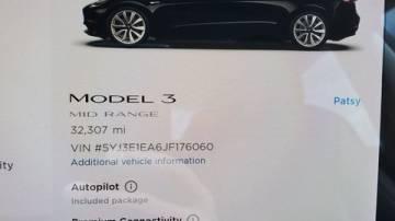 2018 Tesla Model 3 5YJ3E1EA6JF176060