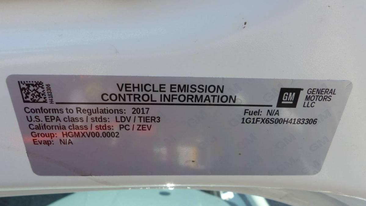 2017 Chevrolet Bolt 1G1FX6S00H4183306
