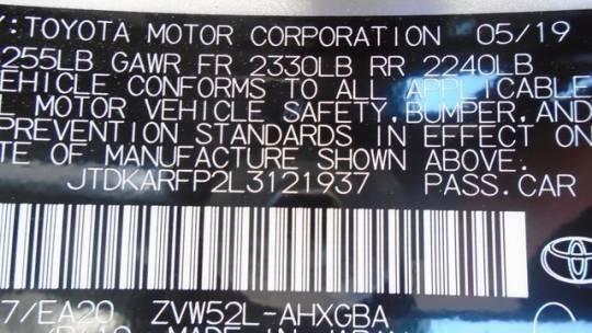 2020 Toyota Prius Prime JTDKARFP2L3121937