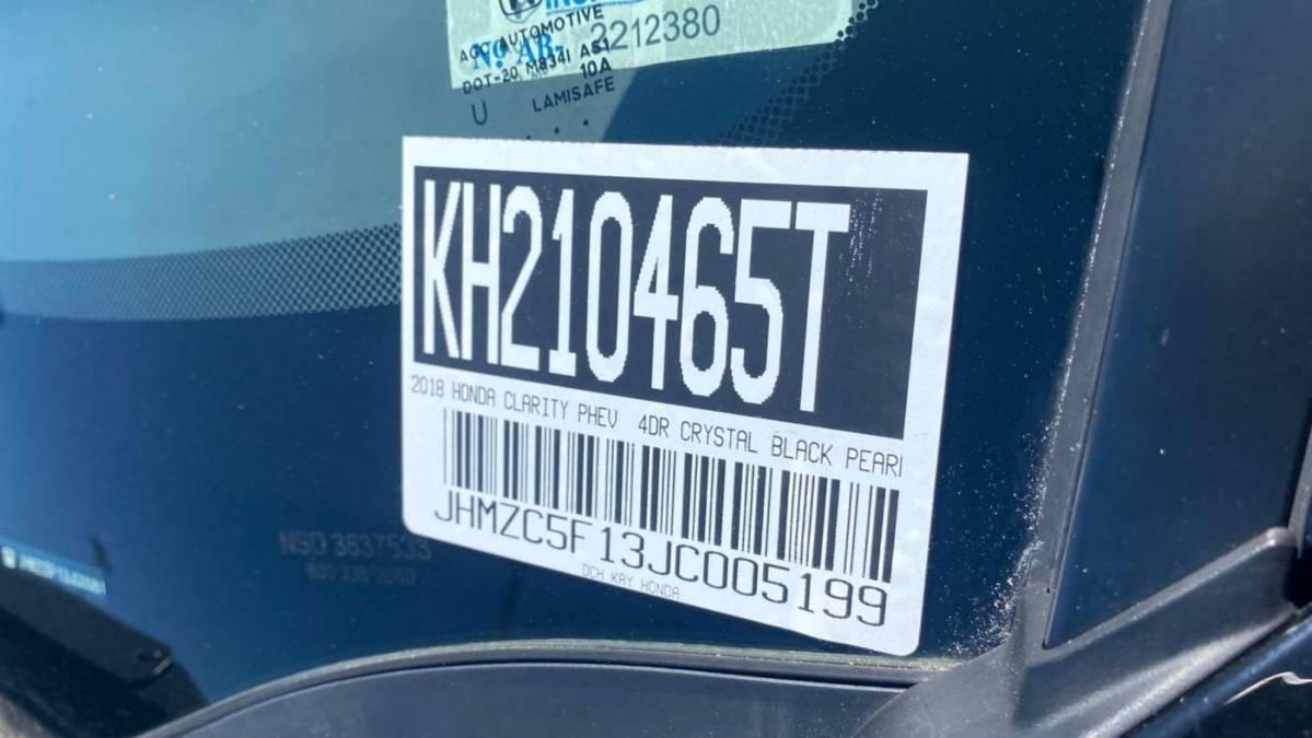 2018 Honda Clarity JHMZC5F13JC005199