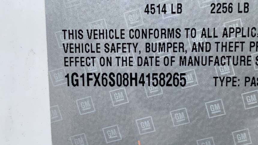 2017 Chevrolet Bolt 1G1FX6S08H4158265