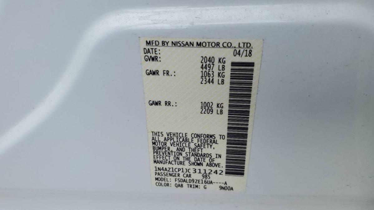 2018 Nissan LEAF 1N4AZ1CP1JC311242