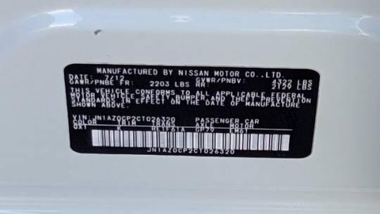 2012 Nissan LEAF JN1AZ0CP2CT026320