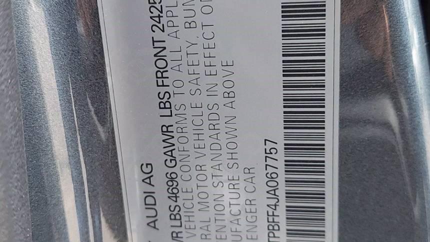 2018 Audi A3 Sportback e-tron WAUTPBFF4JA067757