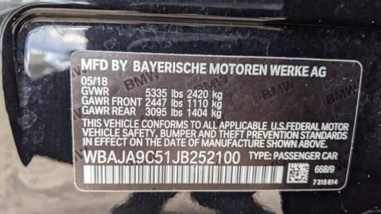 2018 BMW 5 Series WBAJA9C51JB252100