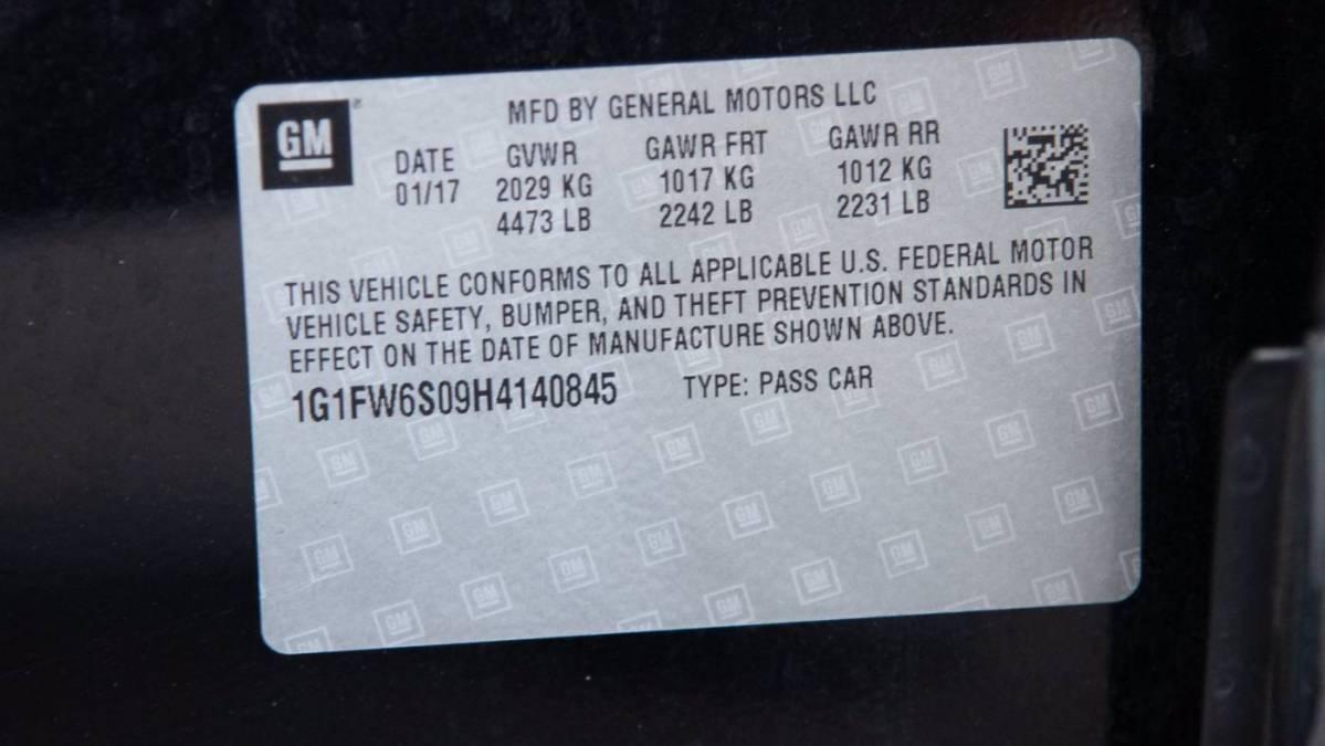 2017 Chevrolet Bolt 1G1FW6S09H4140845