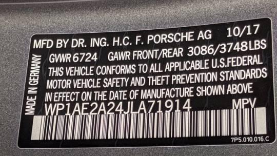 2018 Porsche Cayenne WP1AE2A24JLA71914