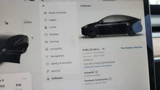 2021 Tesla Model Y 5YJYGDEE3MF108095